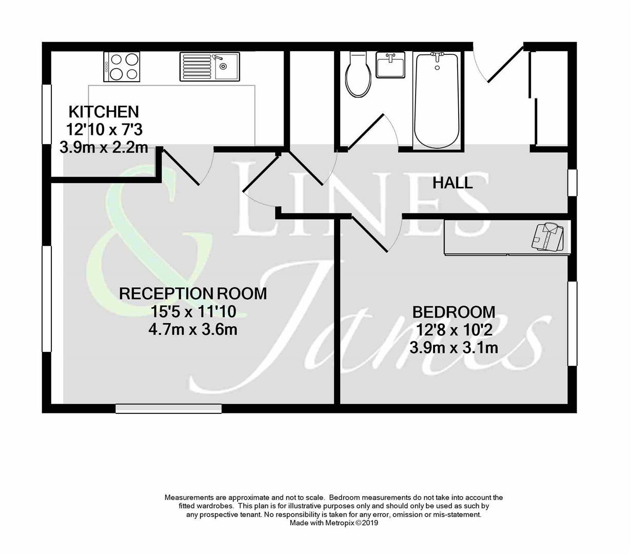 Floorplan for North Parade, Horsham